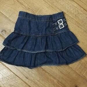 Children's Place denim tiered skirt with shorts